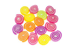 Färgrika spirala jellys arkivbild