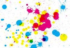 färgrika splats Arkivfoto