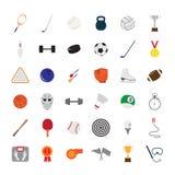 Färgrika sportsymboler för vektor Arkivfoton