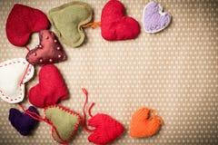 Färgrika stack hjärtor Fotografering för Bildbyråer