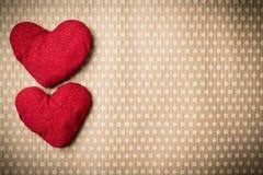 Färgrika stack hjärtor Arkivfoto