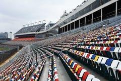 Färgrika stadionplatser fotografering för bildbyråer