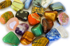färgrika stenar Arkivbild