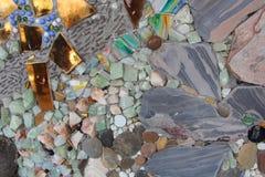 färgrika stenar Arkivfoton