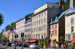 Stenhus i Basse-Ville, Quebec City Arkivfoto