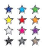 färgrika stjärnavektorer Arkivbilder