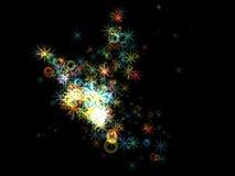 färgrika stjärnor Royaltyfri Fotografi