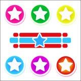 färgrika stjärnor royaltyfri illustrationer