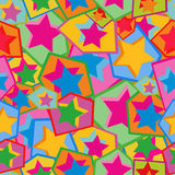 färgrika stjärnor Royaltyfria Foton
