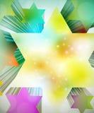färgrika stjärnor 3d Royaltyfria Bilder