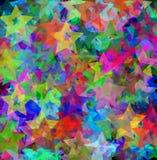 färgrika stjärnor för bakgrund Fotografering för Bildbyråer