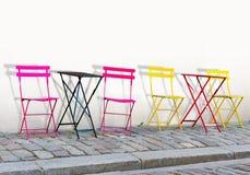Färgrika stolar Arkivbild
