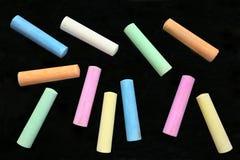 färgrika stora sticks för krita arkivbild