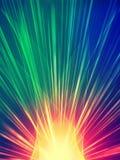 färgrika strålar Royaltyfri Fotografi