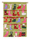 färgrika strumpor för jul Arkivbild