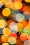 Färgrika suddigheta lampor Royaltyfria Bilder