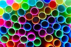 färgrika sugrör Royaltyfri Fotografi
