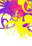 färgrika swirls vektor illustrationer