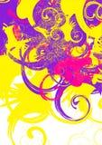 färgrika swirls royaltyfri illustrationer