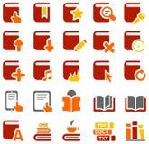Färgrika symboler av böcker och litteratur Arkivfoto