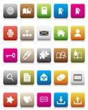 färgrika symbolsinternet för blogs vektor illustrationer