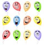 Färgrika tecknad filmballonger Royaltyfri Bild
