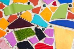 Färgrika tegelplattor som bakgrund Arkivbilder