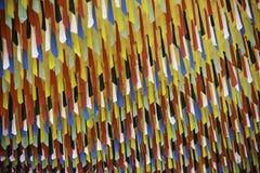 Färgrika tempelgarneringar Arkivbild
