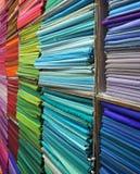 färgrika textilar Royaltyfria Bilder