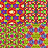 4 färgrika texturer Royaltyfri Bild