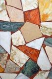 Färgrika texturer för modell för marmormosaikbakgrund Royaltyfria Bilder