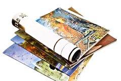 färgrika tidskrifter Royaltyfri Bild