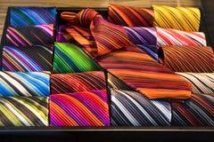 färgrika ties Royaltyfri Fotografi