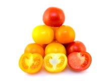 färgrika tomater Royaltyfri Foto