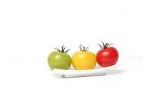 färgrika tomater för Cherry Arkivbild
