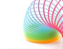 Färgrika Toy Spring Rainbow royaltyfri foto