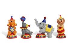 färgrika toys för cirkus Arkivfoto
