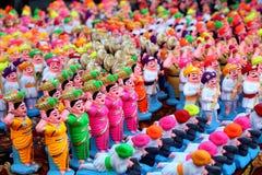 färgrika toys för lera Arkivfoton