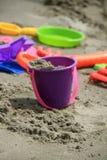 färgrika toys för strand Arkivfoto