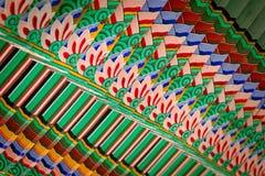 Färgrika trästrålar i Sydkorea royaltyfri foto