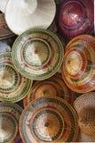 Färgrika traditionella hattar av Thailand Royaltyfri Bild