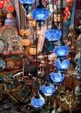 Färgrika traditionella turkiska ljus Royaltyfria Foton