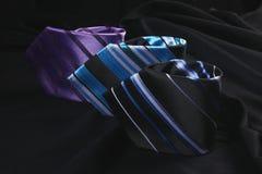 färgrika tre ties Royaltyfria Foton