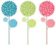 färgrika trees Arkivbilder
