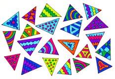 färgrika trianglar Arkivfoto