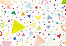 Färgrika trianglar Royaltyfri Foto