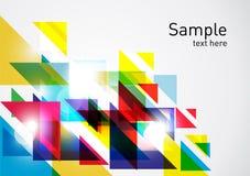 färgrika trianglar för abstrakt bakgrund Royaltyfri Fotografi