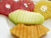 Färgrika tropiska frukter Arkivfoton