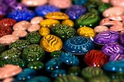 Färgrika turkiska smycken Fotografering för Bildbyråer