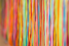 Färgrika tygband Abstrakt modell- eller texturbakgrund isolerad white för beröm begrepp Royaltyfri Foto